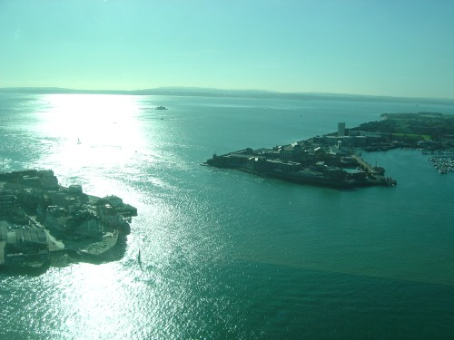 Spinnaker Tower view north: Portsmouth Dockyard Heritage Area. Image by J. D. Davies.