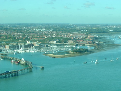 Spinnaker Tower view northwest: Royal Clarence Victualling Yard, Priddy's Hard. Image by J. D. Davies.