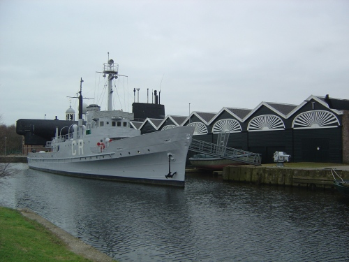 Preserved minesweeper HNLMS Abraham Crijnssen (1936), which saw war service in the East Indies. Image by J. D. Davies.