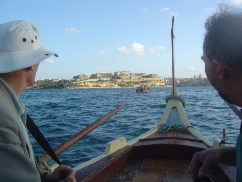 NDS Dghajsa tour of Valletta Harbour. J. D. Davies.