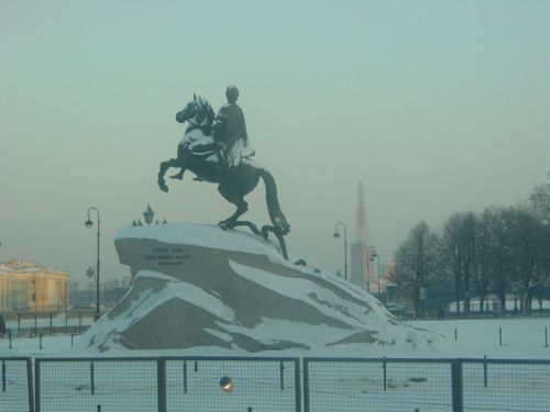 Equestrian statue of Tsar Peter III. Image by J. D. Davies.