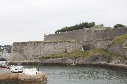 Approaching Citadelle Vauban Belle-Île, Brittany Tour 2010