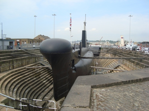 HM Submarine Ocelot launched Chatham Dockyard 1962. Image by J. D. Davies