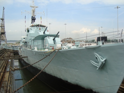 HMS Cavalier built at Samuel White's Isle of Wight yard 1944. Image by J. D. Davies.