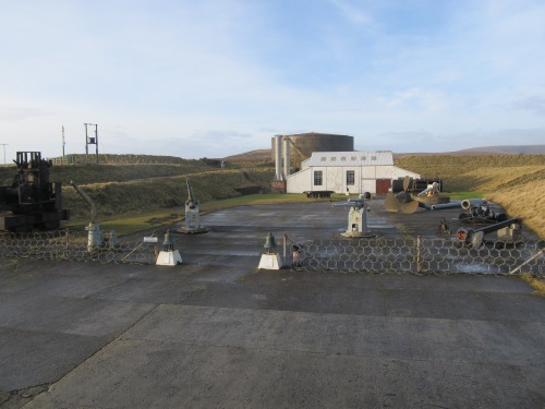 Lyness, Hoy: the Scapa Flow museum and visitor centre, featuring guns salvaged from scuttled warships of German High Seas Fleet. Image by J. D. Davies.