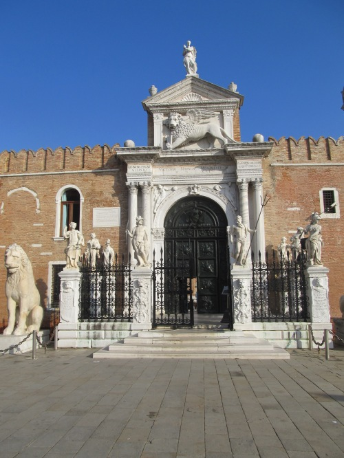 Venice Arsenale gateway. Image by J. D Davies.