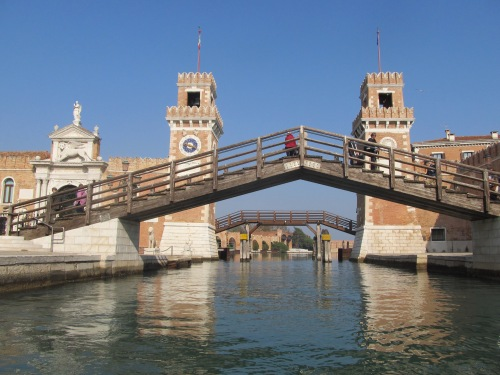 Venice Arsenale water entrance (in Venice Marine Museum 2012). Image by J. D. Davies.